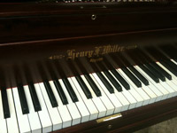 Restored H.F. Miller grand, keyboard