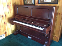New England Piano upright after restoration