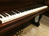 Keys in piano after ivory repair