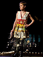 Dress made with Louis's piano parts