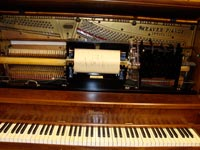 Restored Weaver upright player, mechanism