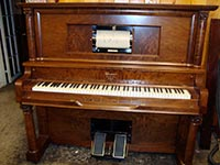 Restored Weaver upright player